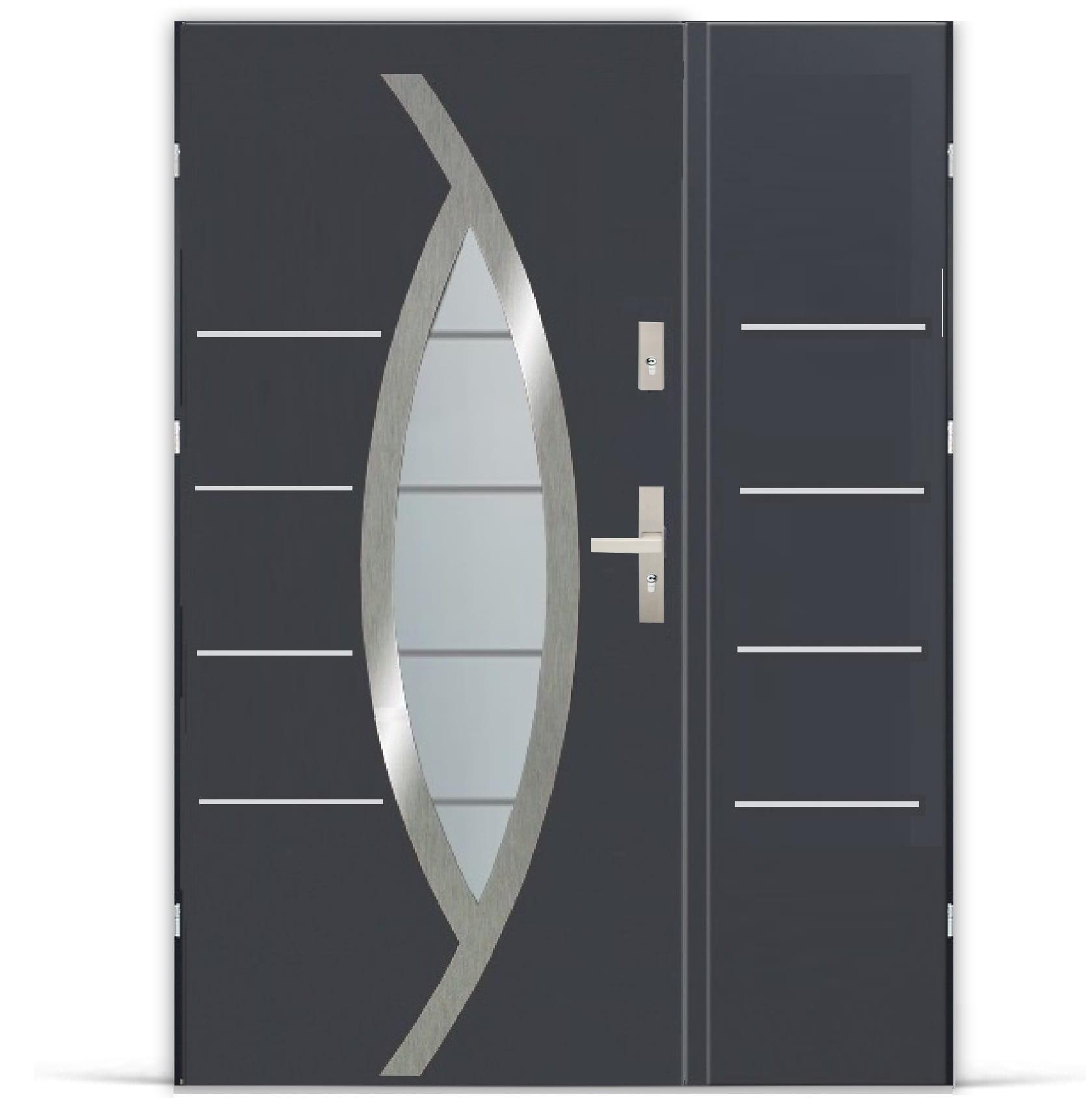 Niewiarygodnie Drzwi zewnętrzne dwuskrzydłowe HAMMER DUO TEL: 500 195 956 SB05